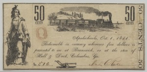 Jan 1, 1855 .50 Cent Note