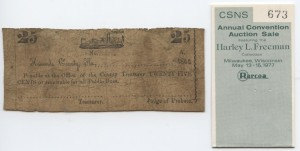 1862 25 Cent Note Gunboat Design. Harley L. Freeman Collection