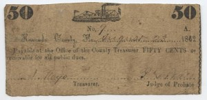 1862 50 Cent Note Gunboat Design