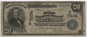 1902 Plain Back $20 Note Charter #7034