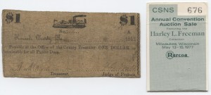 1862 $1 Note Gunboat Design. Harley L. Freeman Collection