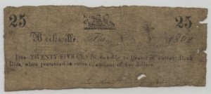 1862 25 Cent Note  Schooner Design