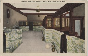 First National Bank of West Palm Beach Postcard