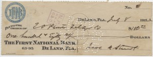 1912 $180 Issued Check