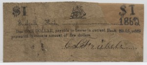 1862 $1 Note