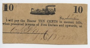 (No Date) 10 Cent Note