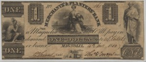"1833 $1 ""A"" Plate Note"
