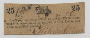 (No Date) 25 Cent Note