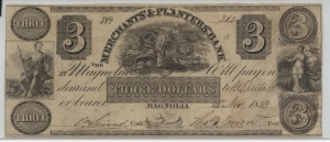 "1833 $3 ""A"" Plate Note"