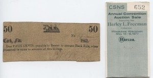 1862 50 Cent Note. Harley L. Freeman Collection