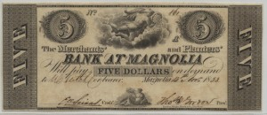 "1833 $5 ""A"" Plate Note"
