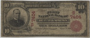 1902/1904 $10 Red Seal. 3rd Chapter #7404