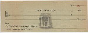 Blank First National Bank Check