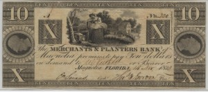"1833 $10 ""A"" Plate Note"