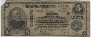 1902 Plain Back $5 Note Charter #12275