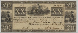 "1833 $20 ""A"" Plate Note"