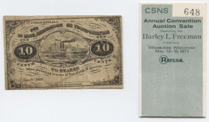 1869 10 Cent Note Harley L. Freeman Collection