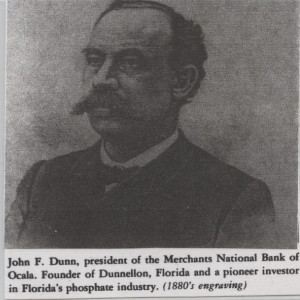 John F. Dunn, President of Merchants National Bank