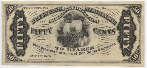 1869 50 Cent Note