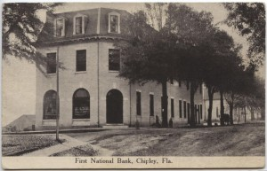First National Bank, Chipley, FL. Post Card