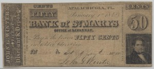 January 1, 1842 .50 Note