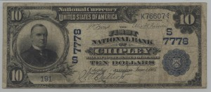 1902 $10 Date Back Charter #7778