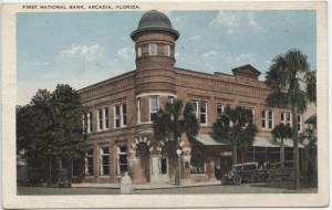 First National Bank Arcadia Post Card