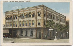 De Soto National Bank, Arcadia Post Card
