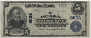 1902 Plain Back $5 Note Charter #9926