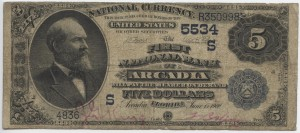 1900 $5 Date Back Charter #5534