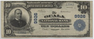 1902 Plain Back $10 Note Charter #9926