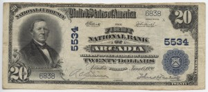 1902 $20 Plain Back Charter #5534 (ONLY 2 KNOWN)