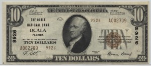 1929 Type 2 $10 Note Charter #9926