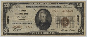 1929 Type 2 $20 Note Charter #9926