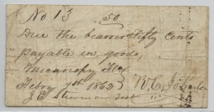 1862 .50 Cent Note from Harley L. Freeman Collection
