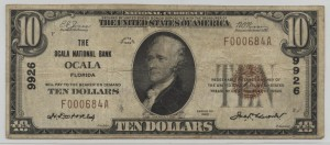 1929 Type 1 $10 Note Charter #9926