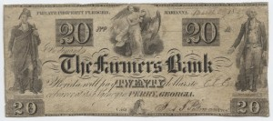 "1837 $20 ""A"" Plate Note"