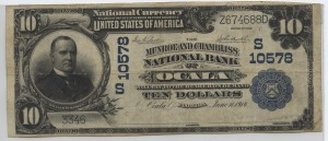 1902 Plain Back $10 Note Charter #10578