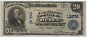 1902 Plain Back $20 Note Charter #10578