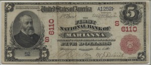 1902 Red Seal $5 Note Charter #6110