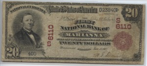 1902 Red Seal $20 Note Charter #6110