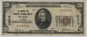 1929 Type 1 $20 Note Charter #10578