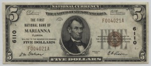 1929 Type 1 $5 Note Charter #6110