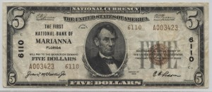 1929 Type 2 $5 Note Charter #6110