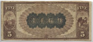 1882 Brown Back $5 Note Charter #3469