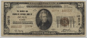 1929 Type 2 $20 Note Charter #10578