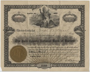(10) $100 Shares Charter #4627