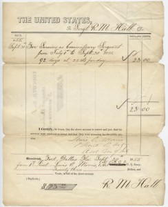 1855 $23 Pay Voucher Third Seminole War Document