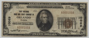 1929 Type 1 $20 Note Charter #10069
