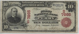 1902 Red Seal $10 Note Charter #7865